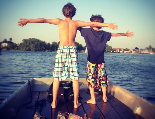 kinderen op het water